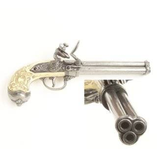 ITALIAN 3 BARREL FLINTLOCK NON FIRING REPLICA