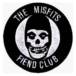 The Misfits   Round Fiend Club Logo   Embroidered Iron On or Sew On