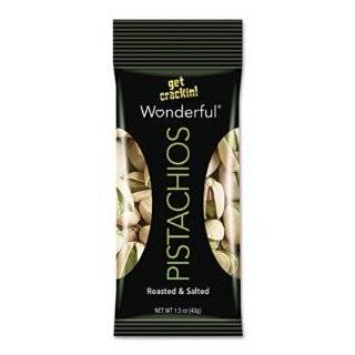 Paramount Farms Wonderful Pistachios, Dry Roasted & Salted, 1.5 oz