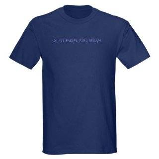 Si vis pacem para bellum latin Black T Shirt Military Dark T Shirt by