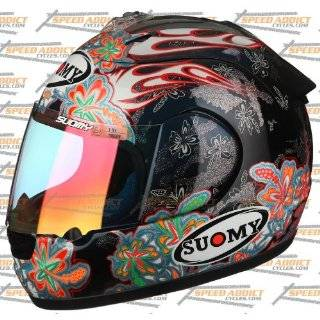 Suomy Excel Spec 1R Extreme Black Blue Flowers Full Face Helmet