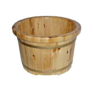 Wood Bucket Tub for Massage, Small (SE 42): Health & Personal Care
