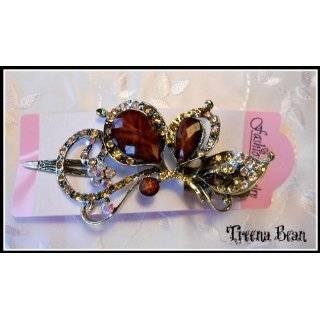 Treena Bean Vintage Fashion Jeweled Turquoise Rhinestone Hair