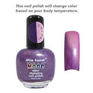 Mood Nail Lacquer Color Changing Nail Polish Purple to Pink Beauty