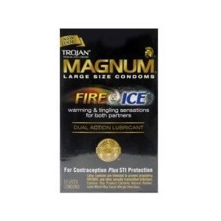Trojan Magnum Vibrating Ring with Latex Magnum Condom