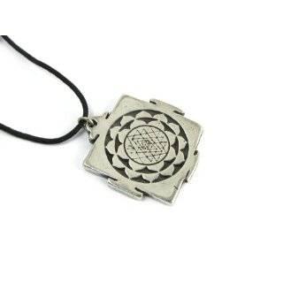 Sri Chakra Shri Yantra Pendant Mantra Hindu Goddess Necklace Amulet