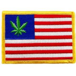 United States of Weed Embroidered Patch Marijuana Pot Leaf American
