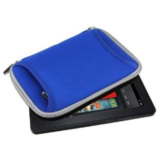 neoprene sleeve case cover with front zipper accessories pocket (Blue