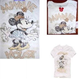 DISNEY MINNIE MOUSE T SHIRT TEE TOP Womens Vintage Style