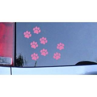 Dog Paw Prints Sticker White   Dogs, Puppy, Pooch Lover Automotive