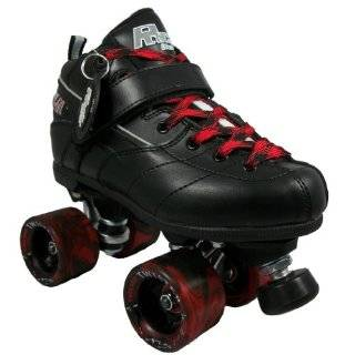 Sure Grip Rock GT50 Black Boots with Black & Red Twister Wheels and