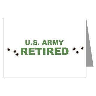 ARMY/RETIRED Greeting Cards (Pk of 10)