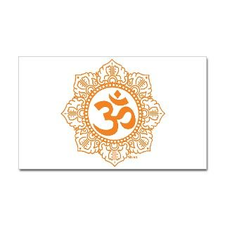 Asia Gifts > Asia Stickers > OM   OHM   AUM SYMBOL Rectangle Sticker