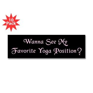 Breathing Gifts > Favorite Yoga Position Sticker (Bumper 10 pk)