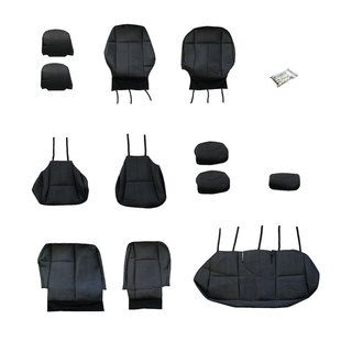 FH Group Custom Fit Black Leather 2009 2011 Toyota Corolla Seat Covers