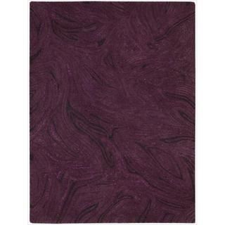 Nourison Joseph Abboud Hand tufted Modelo Raised Swirl Purple Rug (4