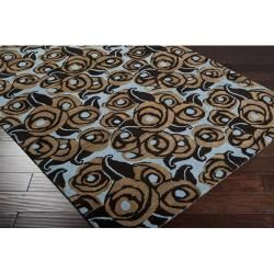 Hand tufted Victory Blue Wool Rug (5 x 8)