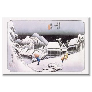 Hiroshige Night Snow at Kambara (Kambara Yoru No Yuki) Canvas Art