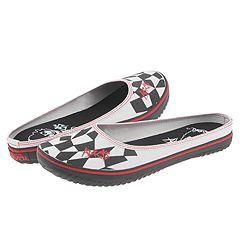 Draven Adicts   Naughty Girl Mule Black/White Flats