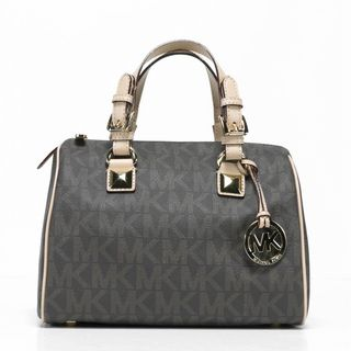Michael Kors Grayson Medium Brown Logo Satchel