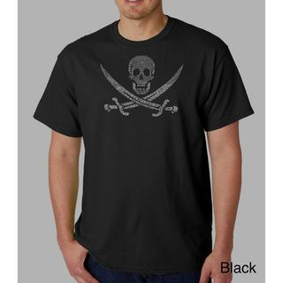 Los Angeles Pop Art Mens Pirate Flag Jolly Roger T shirt