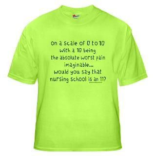 Nursing School Pain Scale II : StudioGumbo   Funny T Shirts and Gifts