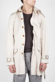 Vivienne Westwood  Light Beige Cotton Twill Twisted Trench Coat by Vivienne Wes