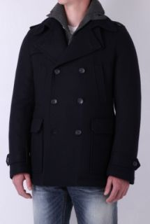 D&G  Navy Cropped Wool Trench Coat by D&G