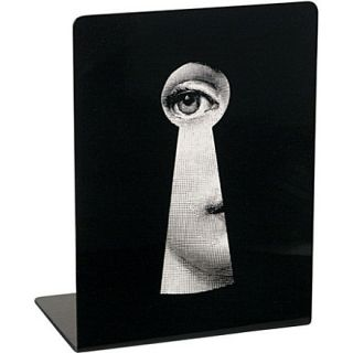 Viso Face Through Keyhole bookends black   FORNASETTI   Home decor
