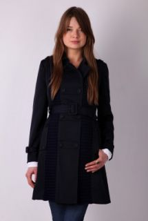 Navy Double Breasted Trench Coat by Pringle 1815   Navy   Buy Coats Online