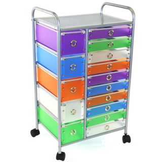 4D Concepts 15 Drawer Rolling Storage   5 Small/10