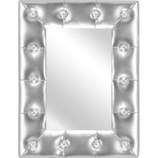 LumiSource Pouf Mirror   Silver