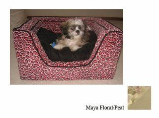 Snoozer Luxury Square Pet Bed, X Large, Maya Floral/Peat