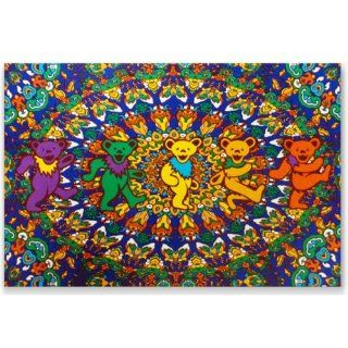 Grateful Dead Black Dancing Bear Indian Tapestry: Home