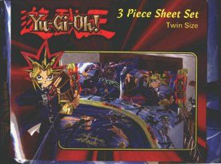 Yu Gi Oh 3 piece sheet set twin size: Home & Kitchen
