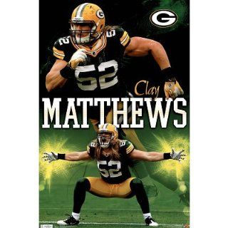 (22x34) Green Bay Packers Clay Matthews Sports Poster