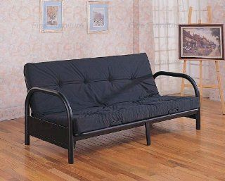 Turley Satin Futon Frame in Black by Coaster Furniture