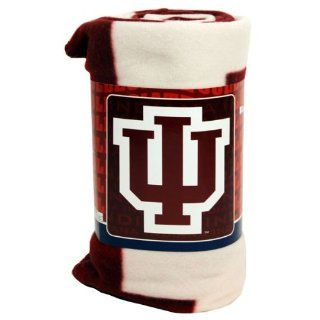 : Indiana University IU Hoosiers Fleece Blanket Throw: Home & Kitchen