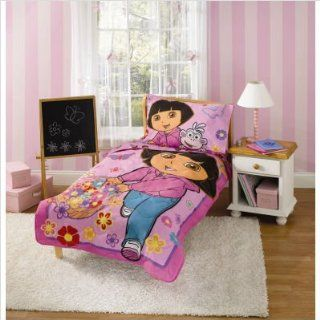 Bundle 29 Dora the Explorer Toddler Bedding Set: Home & Kitchen