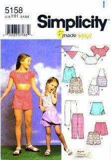 Simplicity 5158 Sewing Pattern Toddler Girls Tops Pants
