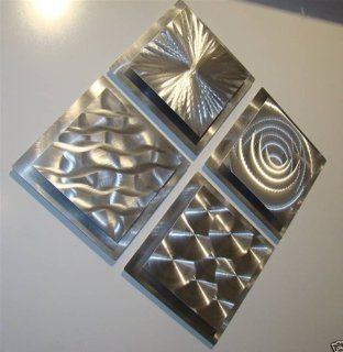 Squares Modern Abstract Metal Wall Art Sculpture, Contemporary