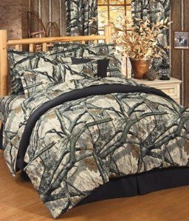 Mossy Oak Camo Treestand   Comforter Set   Queen: Home & Kitchen
