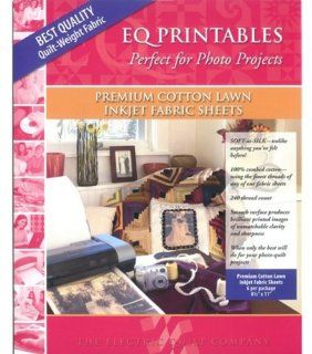 ? Printables   Inkjet Cotton Lawn Fabric Sheets 6/Pkg: Home & Kitchen