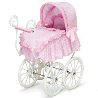 Toddler Girls Baby Doll Canopy Stroller Bed Victorian Pram