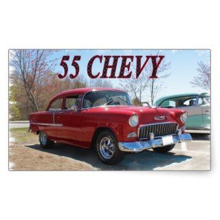 55 Chevy Rectangle Sticker