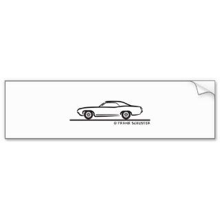71 Ford Torino Coupe Bumper Sticker