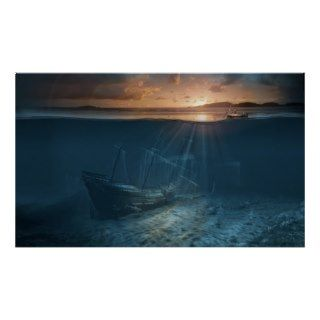 Ghost ship series: Pirate shipwreck Print