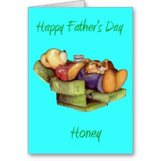 Happy fathers Day Honey wife/Girlfriend Greeting Card