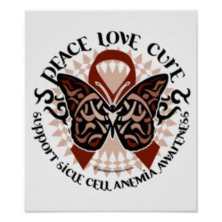 Sickle Cell Anemia Butterfly Tribal Print