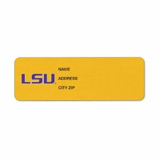LSU Purple & White Logo Return Address Labels